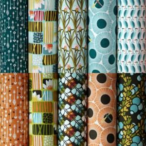 telas patchwork algodón orgánico Cloud9 colección Across the Pond