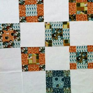 variación bloque de patchwork 9-patch contemporáneo