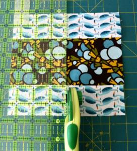 cortar con cúter técnica de patchwork