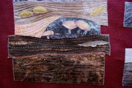 quilt de arte con fotos impresas en tela de seda