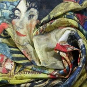 Pañuelo de seda Klimt
