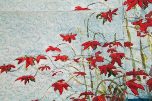 flores estampadas acolchadas