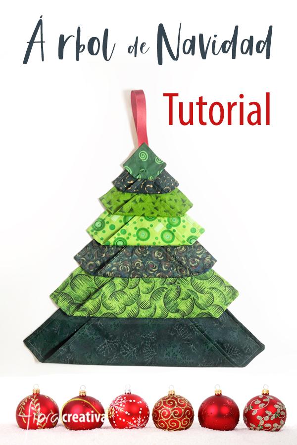 tutorial arbol de navidad de tela DIY sostenible