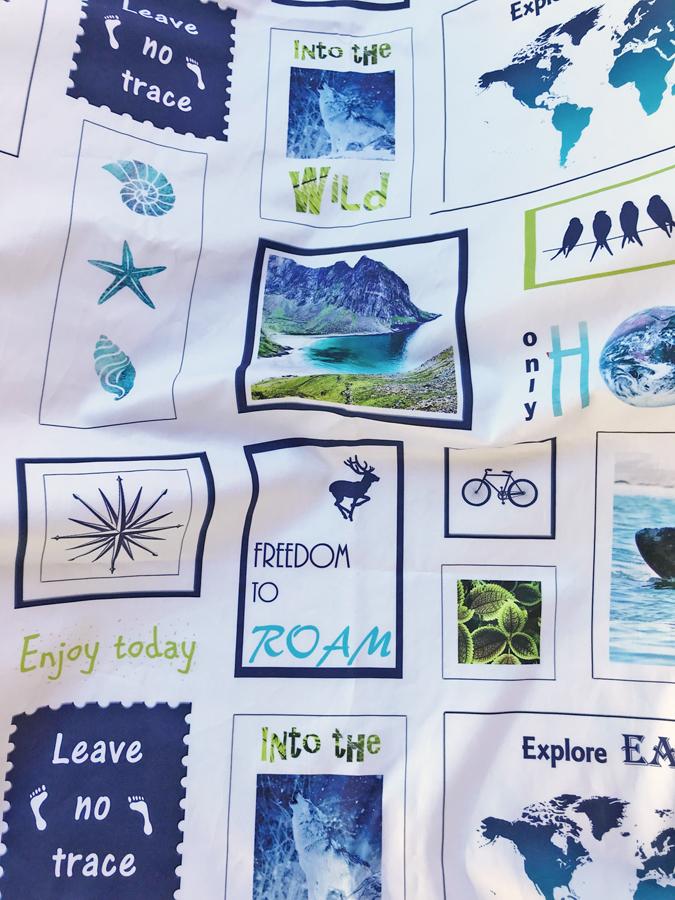 tela por metros algodón ecológico Freedom to Roam de Fibra Creativa