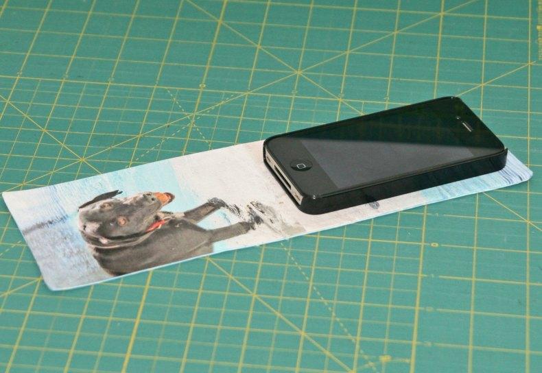 hacer un estuche para movil en tela con fotos Fibra Creativa