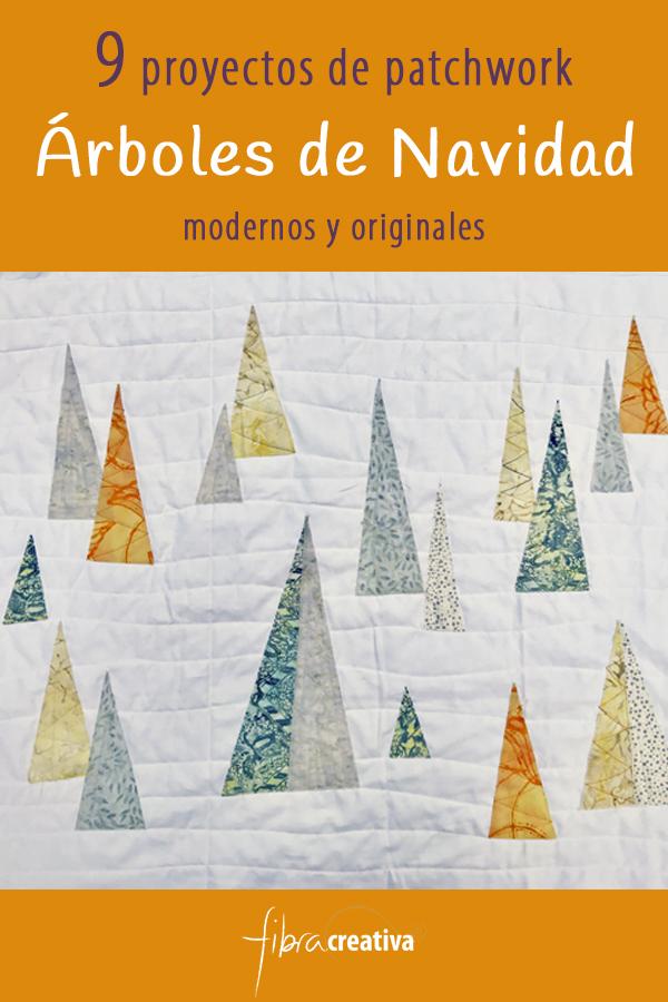 9 proyectos de patchwork con árboles de navidad y abetos Fibra Creativa
