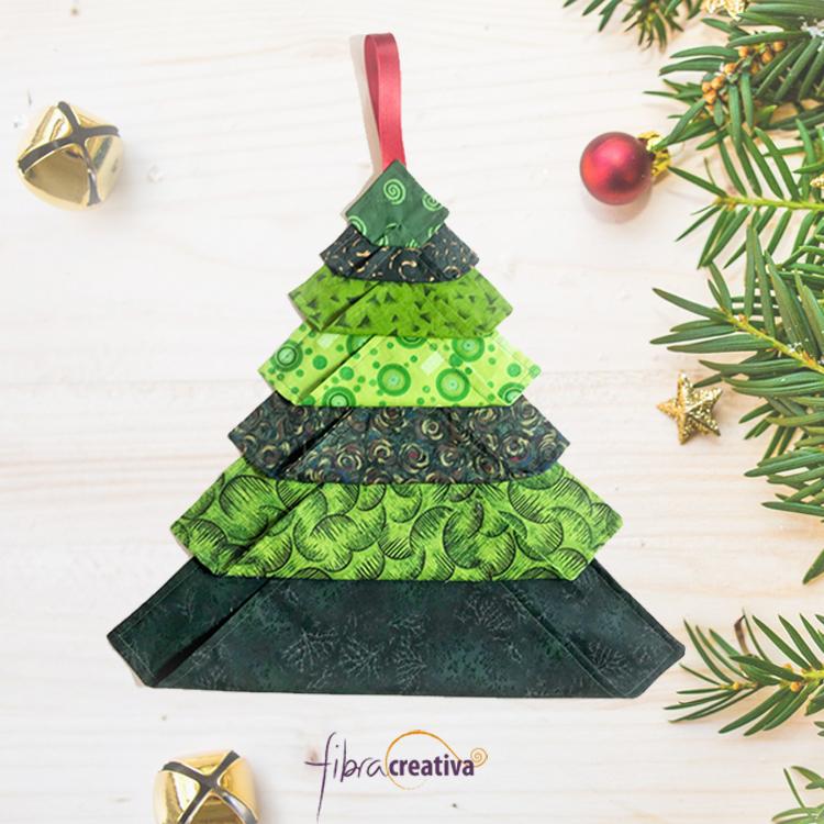 sapin de noël en tissu décor de Noël à pendre