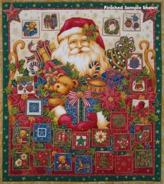 Santa Advent Calendar Panel