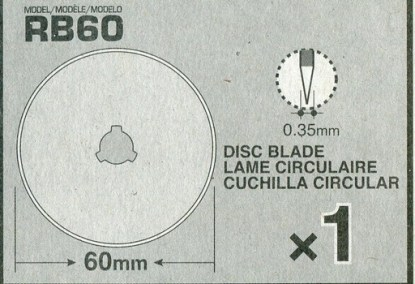 Information on 60mm Olfa Rotary Cutter Replacement Blade