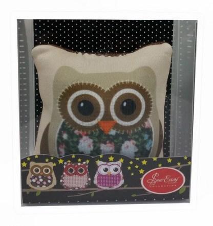 Image (2) of Owl Pin Cushion (Brown) in box