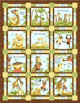 Susybee Buddies Storytime Quilt - Free Pattern. Quilt designed by Sue Harvey & Sandy Boobar.