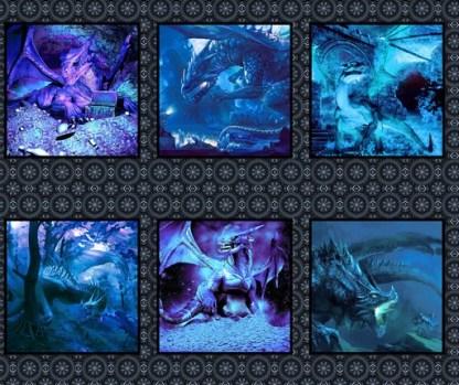 Dragons Blue Fury Panel 2DRG-2
