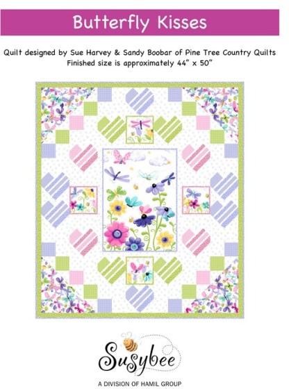 Butterfly Kisses Quilt - Free Pattern. Quilt designed by Sue Harvey & Sandy Boobar.