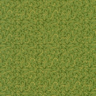 Gilded Blooms AHYM-18705-7 Green