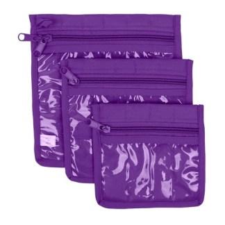 3 Piece Craft Pouches - Purple