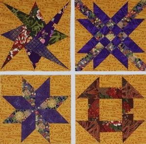 Sampler patchwork blocks by Margaret Kirkby. Class image.
