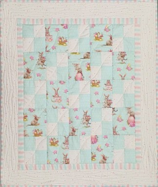 Easter Bilby Crib Quilt Kit