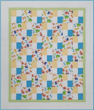Dream Time Cot Quilt Kit - Dinomate