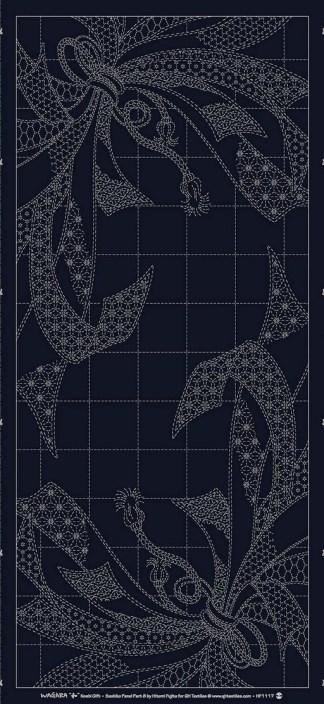 "Wagara Panel HF1117-A01NV ""Noshi Gift"" Navy"