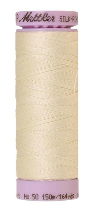 Mettler Silk-finish Cotton 50W 3612 Antique White 150m Spool