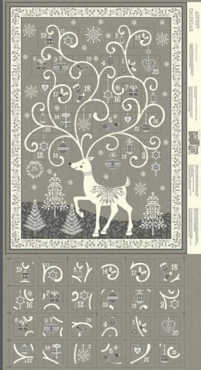 Scandi Advent Calendar Panel 2110-S