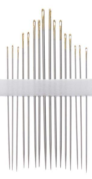 Clover Golden Eye Milliners Needles (No. 3, 5, 7, 9) Art No. 236