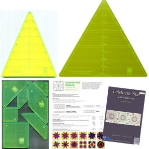 Octagon Wedge and Hexagon Wedge Templates plus Le Moyne Star Template Set and Table Runner Pattern Combo