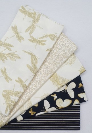 60cm Bundle of Black and Cream with Gold