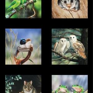 Wildlife Art 5 Panel DV3707