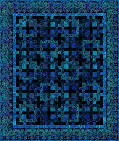 Tapestry Quilt Kit - Blue