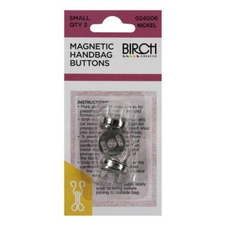 Magnetic Handbag Buttons 024006-NICKEL