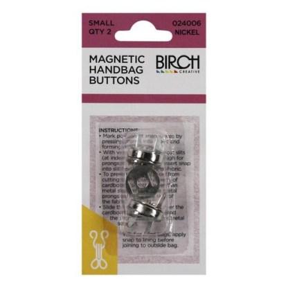 Magnetic Handbag Buttons 024006-NICKEL