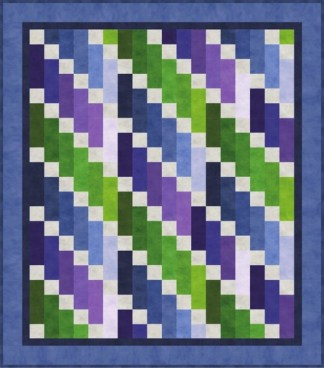 Cascade Play - Cool (Quilt Kit)