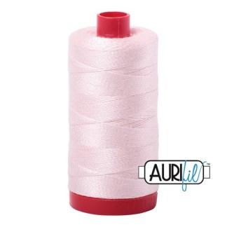 Aurifil 12wt Cotton Mako' 325m Spool - 6723 - Fairy Floss