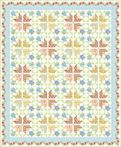 Beautiful Garden Quilt Fabric Pack