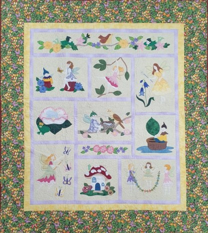 Enchanted Fairy Garden Quilt - Finished Sample