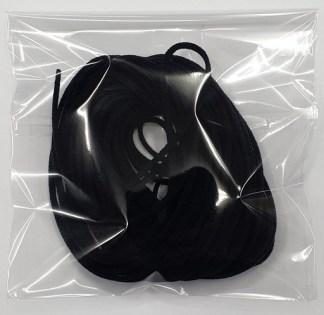 3mm Round Elastic - Black