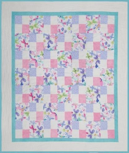 Flutterby Cot Quilt Kit