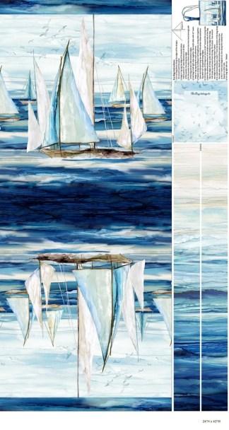 Sail Away Quick Sew Canvas Bag Panel C24162-44
