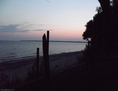 dusk at Rock Point