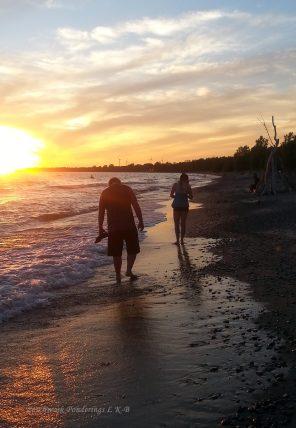 sunset stroll Rock Point