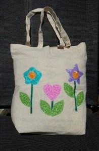 Calico patchwork bag