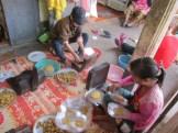 Preparing sweet rice patties
