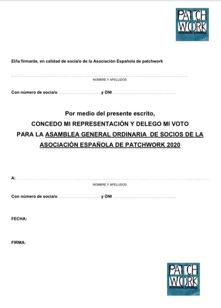 Impreso delegacion del voto