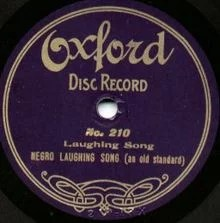 1908 Negro Laughing Song. Probably made by Victor using Zonophone masters.