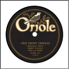 Record Label: 1927-1935. Gold, black, white color scheme.