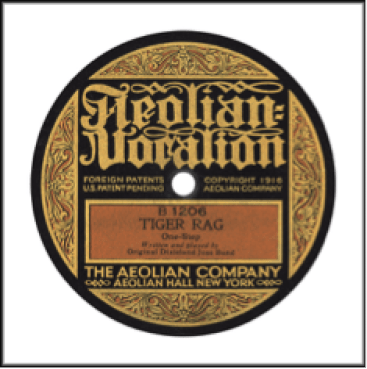 Record Label: 1916-1920. Label colors: Tan, Gold, Black.