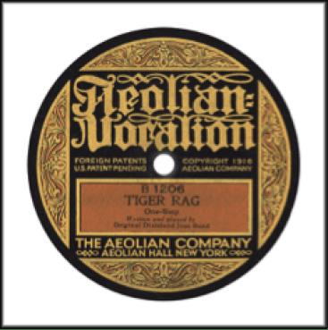Record Label: 1916-1920. Label colors: Tan, Gold, Black.
