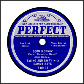 Perfect Record Label Blue and Silver