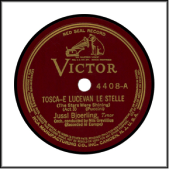 Record Label: 1903-1923. Red in color with the phrase Red Seal Record at the top.